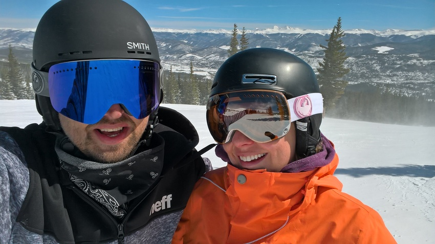 Jessica and I on a very windy day at Breck. #VacationLife via @Vistana